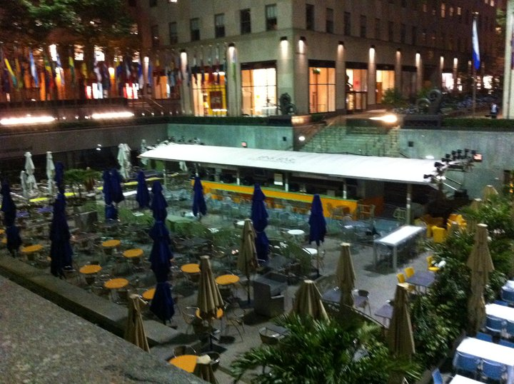 overnight layover New York Ice rink rockefeller center