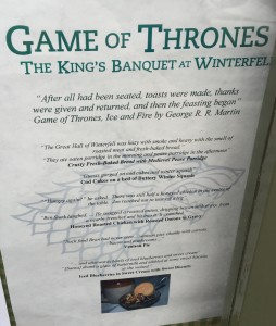 Game of Thrones The Cuan menu