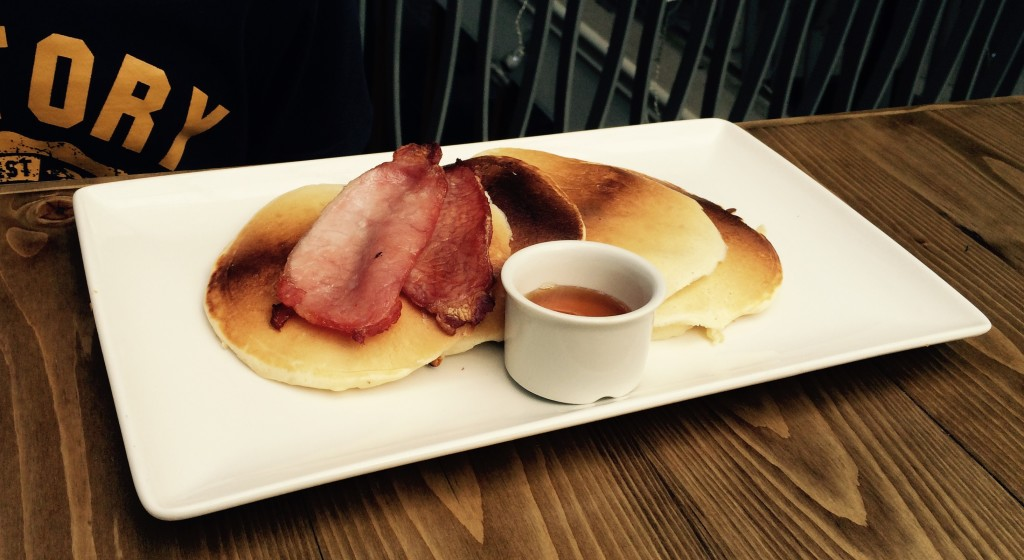 st georges market breakfast pancakes bacon