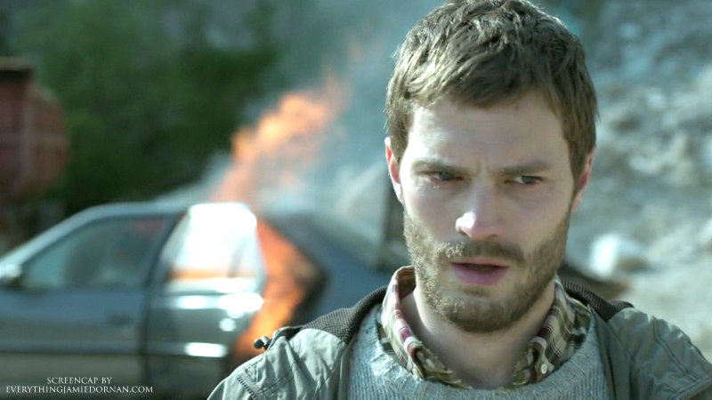the fall jamie dornan quary burning car