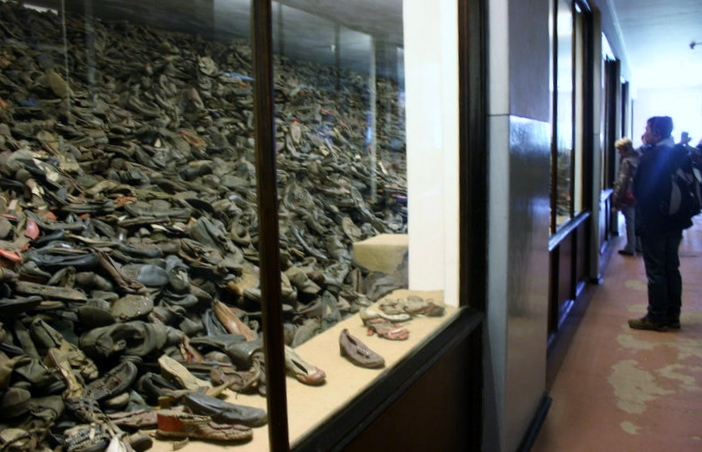 auschwitz birkenau camp shoes